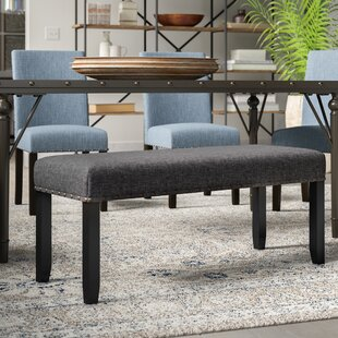 Greyleigh Haysi Upholstered Bench with Nailhead Trim