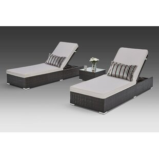 Putney 3 Piece Chaise Lounge Set by Brayden Studio