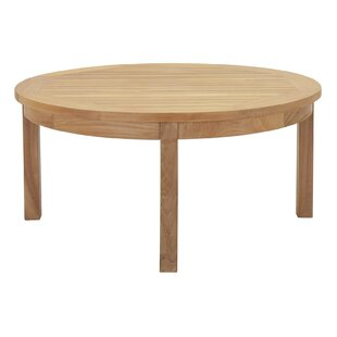 Beachcrest Home Elaina Teak Coffee Table