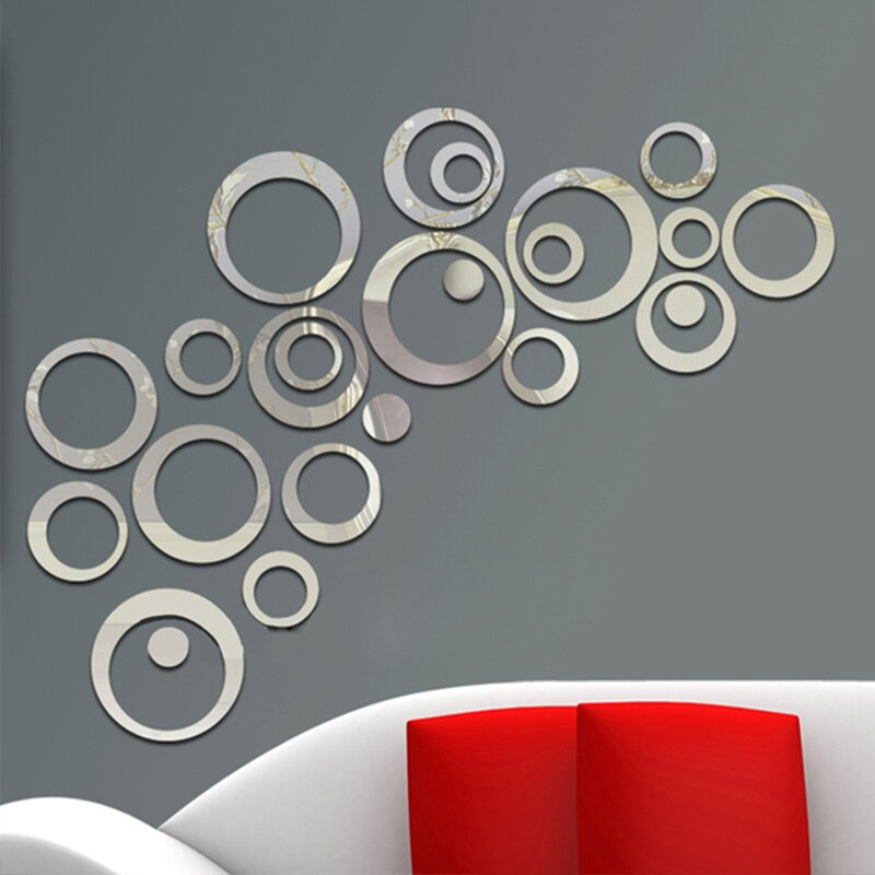 Winston Porter Gowan Rings Combination Design Mirror Wall ...