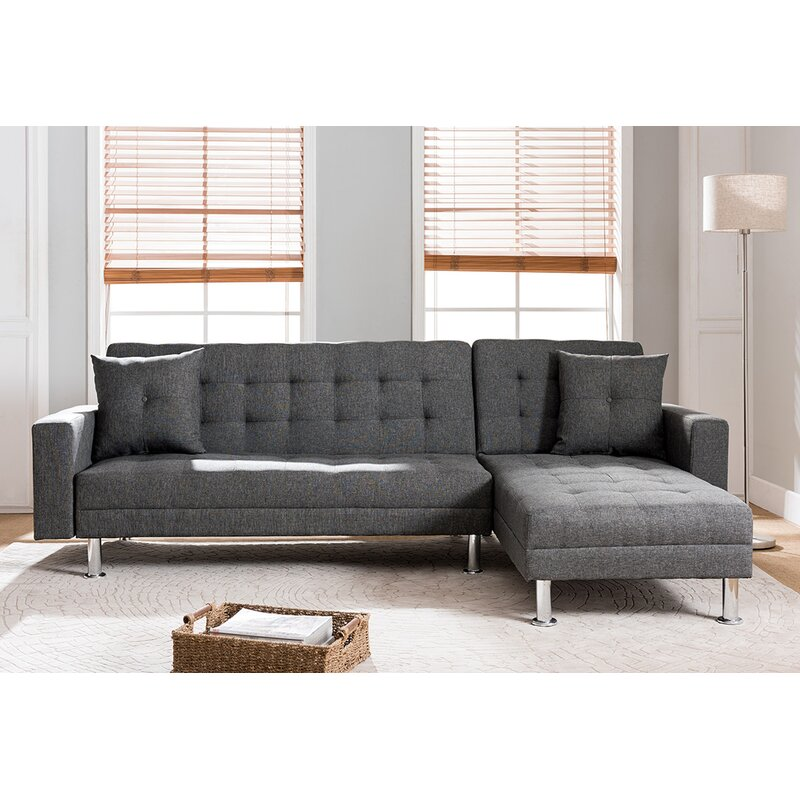 veronica raw broyhill sectional chaise