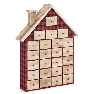 Plaid House Christmas Advent Calendar