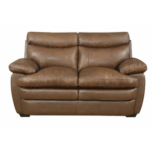 Best Millwood Leather Loveseat by Darby Home Co Reviews (2019) & Buyer's Guide