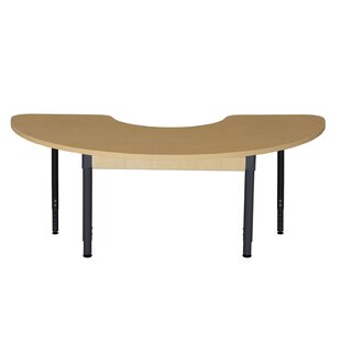 Half Circle High Pressure Laminate Table (Adjustable Legs) by Wood Designs