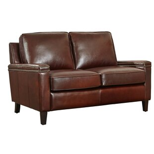 Compare Hahira Leather Loveseat by Three Posts Reviews (2019) & Buyer's Guide