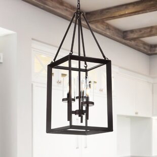 Gracie Oaks Powell 3-Light Rectangle Pendant