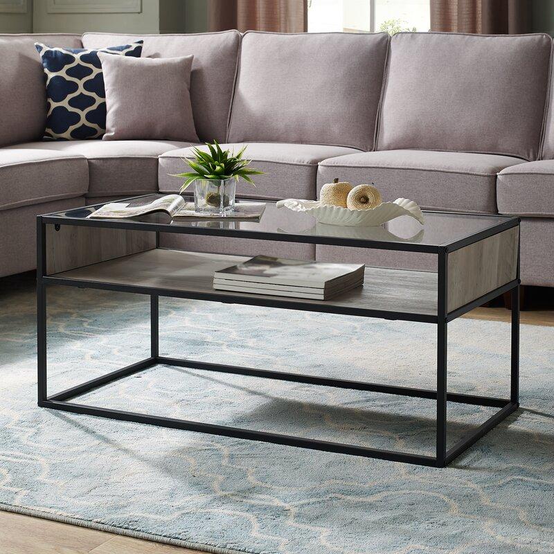 Williston Forge Nowak Frame Coffee Table with Storage