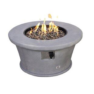 Devereaux Propane Gas Fire Pit By Symple Stuff