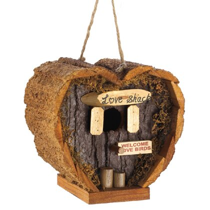 Love Shack Log Cabin Birdhouse