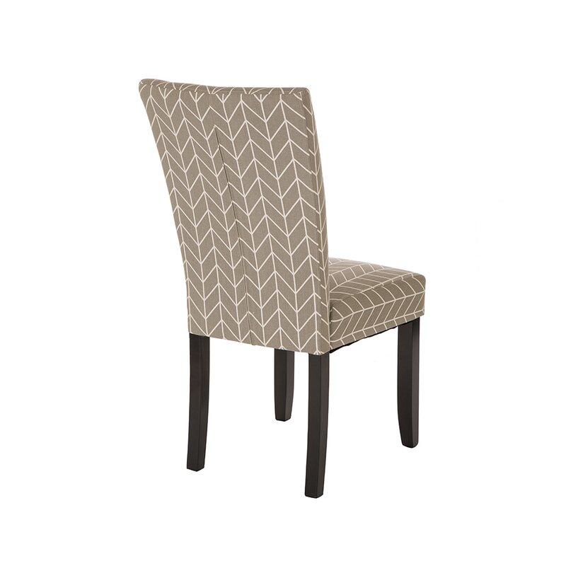 Albarado Herringbone Upholstered Dining Chair