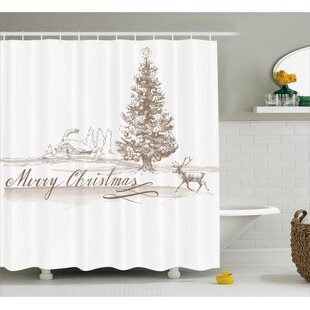 Bateson Vintage Classic Xmas Single Shower Curtain