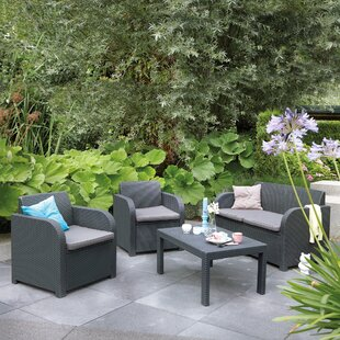Sterner 4 Piece Sofa Set with Cushions
