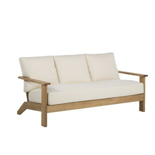 Ashland Teak Patio Sofa with Cushions