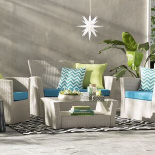 Hakes 4 Piece Sofa Set with Cushions