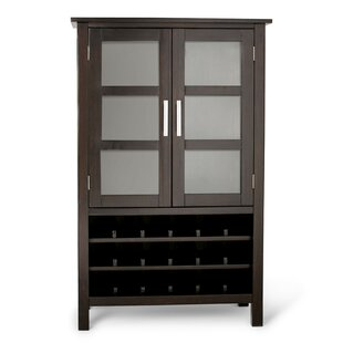 Kitchener 18 Bottle Floor Wine Cabinet by Simpli Home