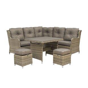 Compare Price Vandeventer Compact 7 Seater Rattan Corner Sofa Set