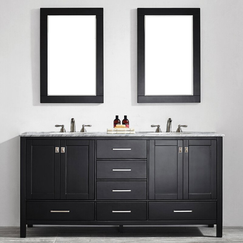 Newtown 72 Double Vanity Set With Mirror Reviews Allmodern