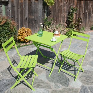 Tibo 3 Piece Patio Bistro Set by Turn on the Brights