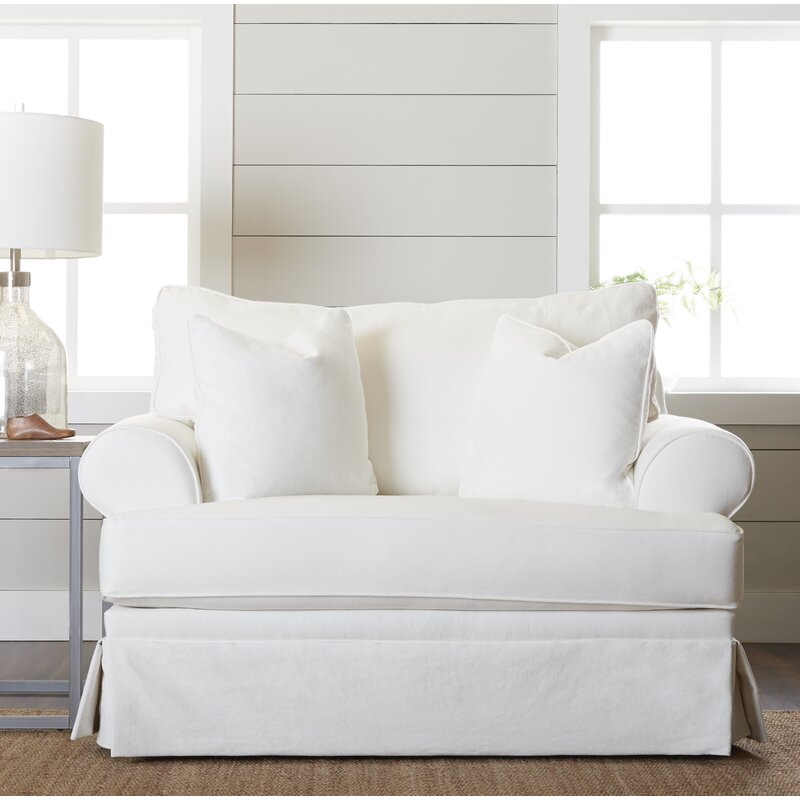 Feminine French Country Big Chair and a Half & Reviews | Wayfair