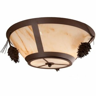 Steel Partners Ponderosa Pine 2-Light Flush Mount