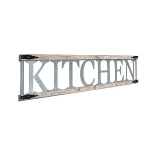 Merveilleux Metal And Wood Farmhouse Kitchen Sign Wall Decor
