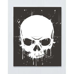 Skull Motif Magnetic Wall Mounted Cork Board By Ebern Designs