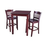 Eaker 3 Piece Pub Table Set by Darby Home Co