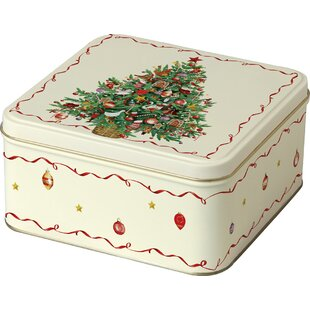 Christmas Tree Cookie Tin by Boston International Modern