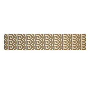 Georgia-May Geometric Print Gold Indoor/Outdoor Area Rug