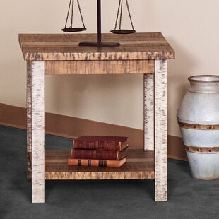 Deeter Farmhouse End Table by Highland Dunes