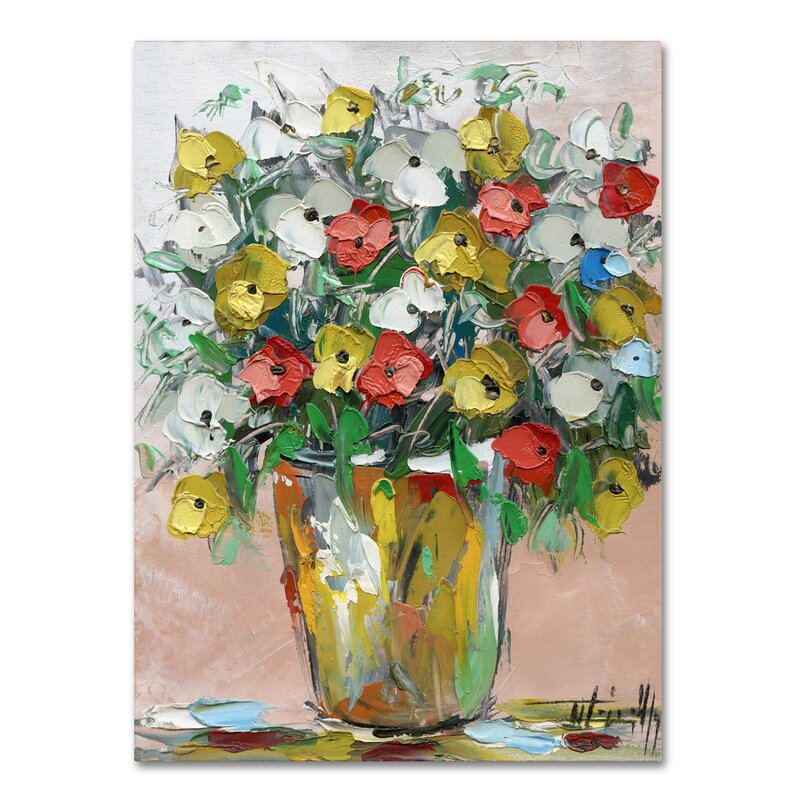 Red Barrel Studio Spring Flowers In A Vase 6 Painting Print On