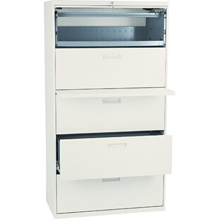 HON 500 Series 5-Drawer Mobile Vertical Filing Cabinet