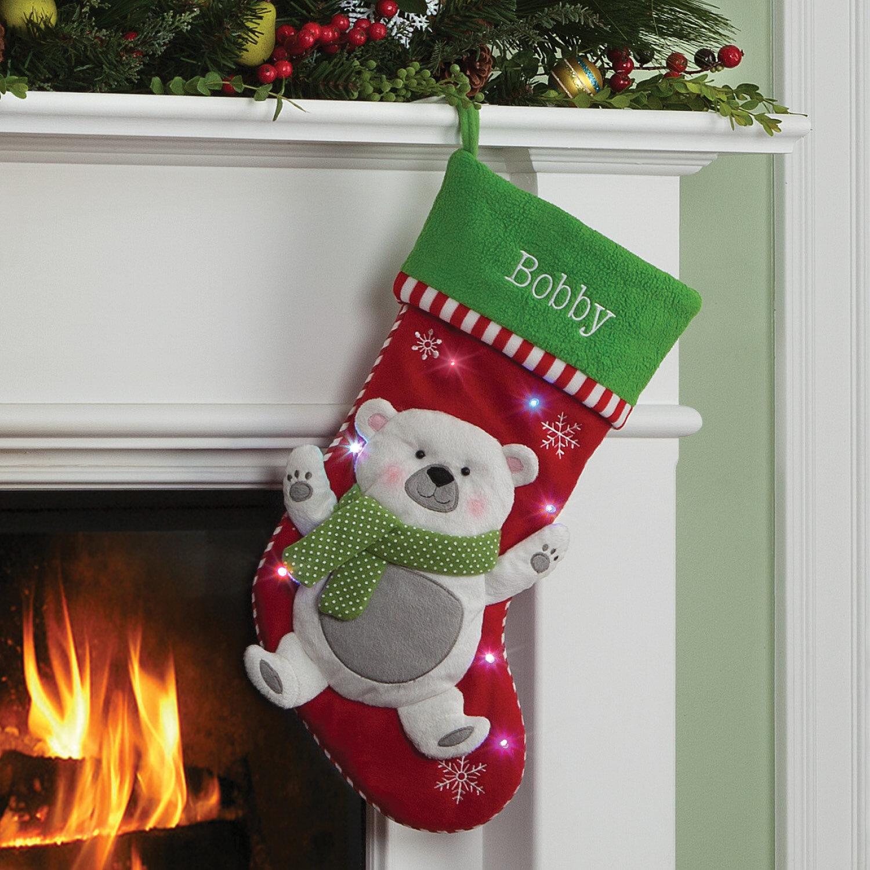 The Holiday Aisle Polar Bear LED Personalized Stocking & Reviews | Wayfair.ca