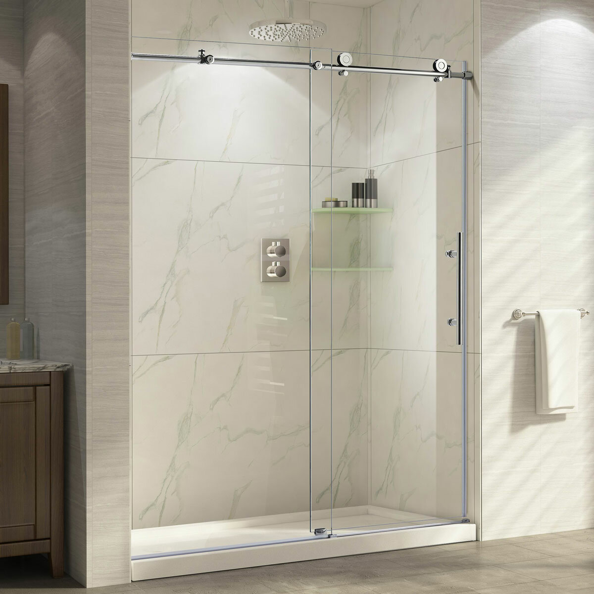 Lesscare Ultra C 60 X 76 Single Sliding High Shower Door