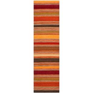 Striped Kilim Gold Rug by Safavieh
