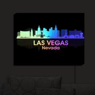 East Urban Home City V Las Vegas Nevada' Print on Fabric