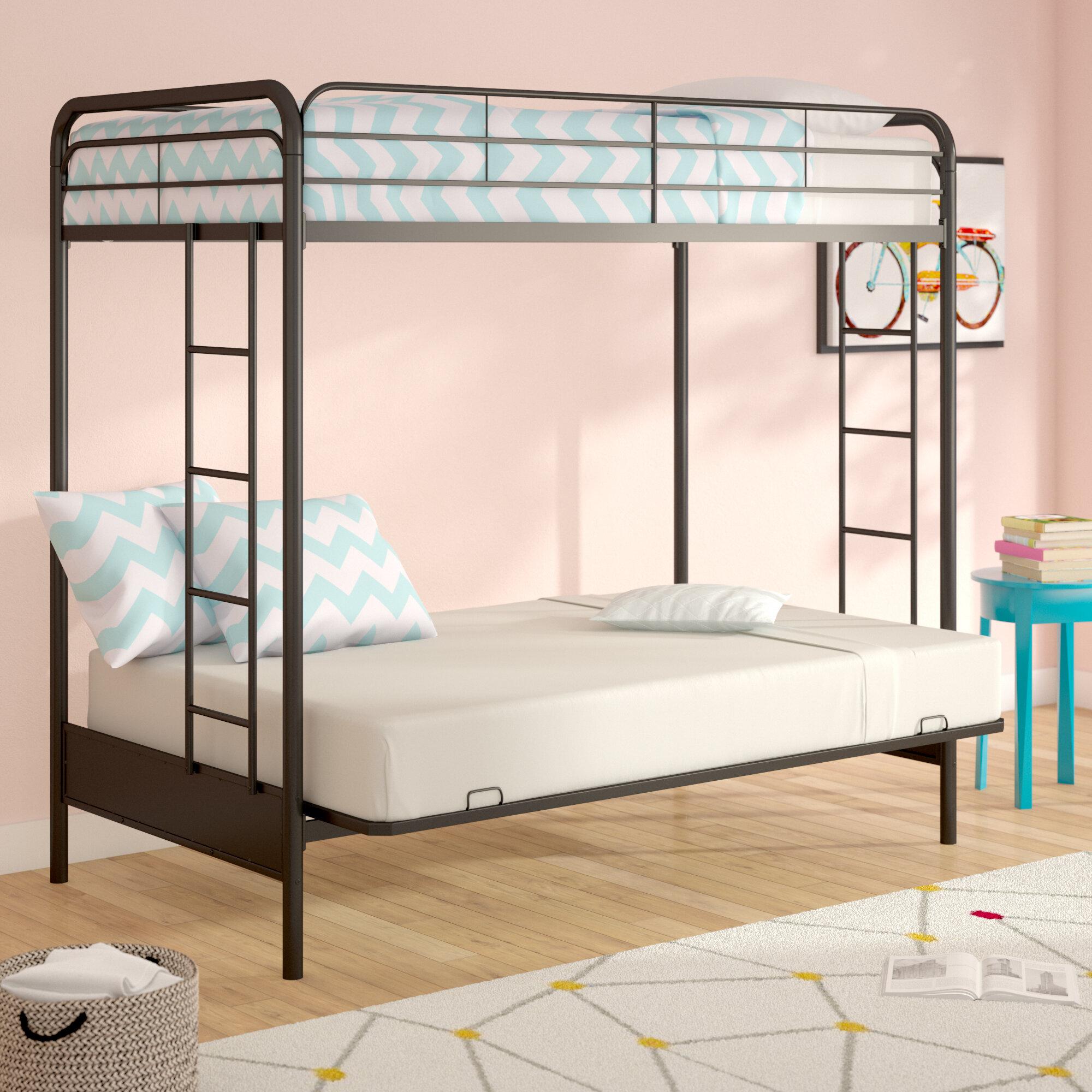official photos 2355a 8dfec Viv + Rae Sanders Twin Over Full Futon Bunk Bed & Reviews ...