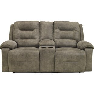 Tressider Reclining Loveseat with Console Loon Peak