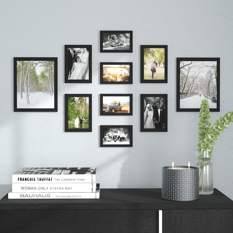 Ivy Bronx Buckman 10 Piece Collage Picture Frame Set Reviews Wayfair