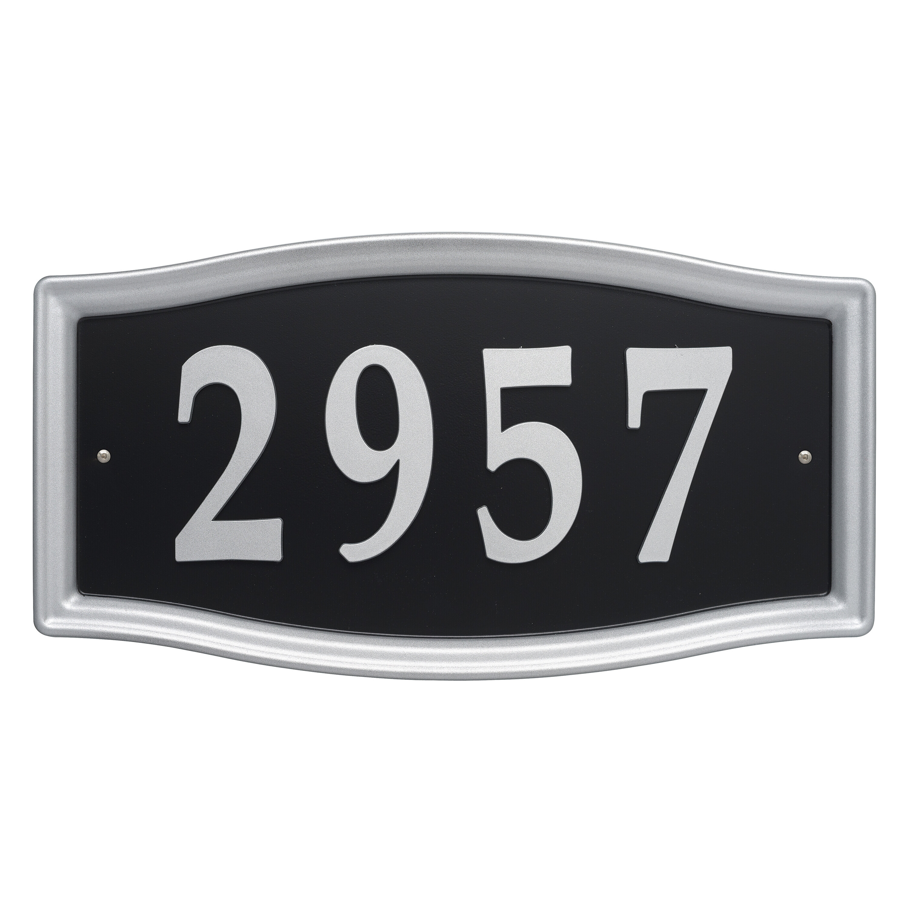 Whitehall Personalized Address Plaque 15 W X 9 5 H Custom 1 Line Cast Aluminum Concord Oval House Number Wall Sign Black Silver Patio Lawn Garden Coastalcameraclub Outdoor Décor