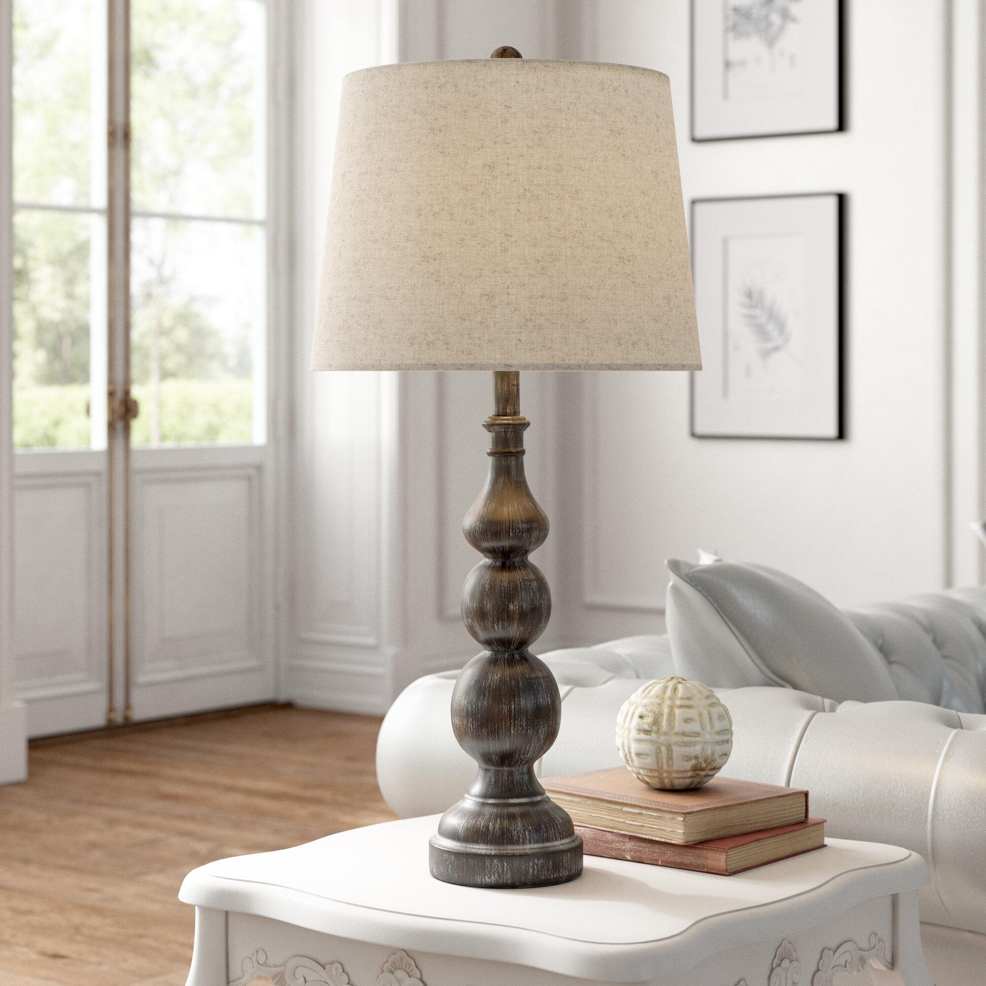 "Silvy 8"" Table Lamp Set"