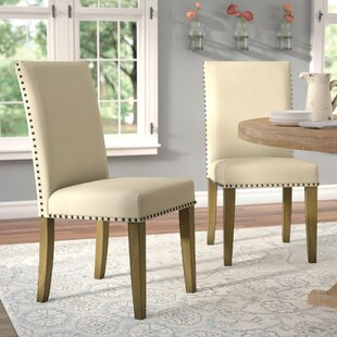 Arcade Upholstered Dining Chair (Set Of 2) by August Grove Discountt