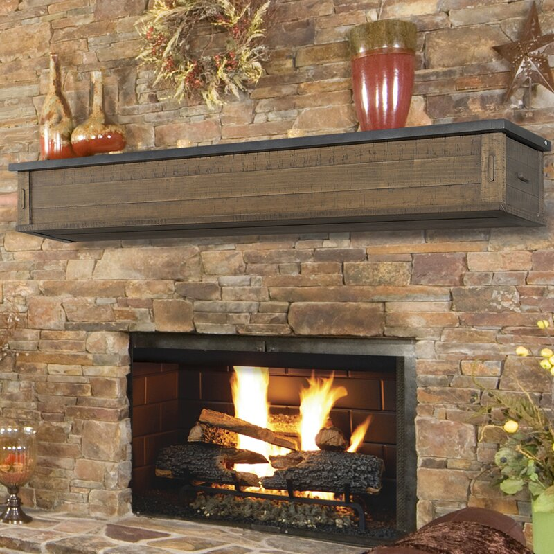 Pearl Mantels Austin 2 Drawer Storage Fireplace Mantel