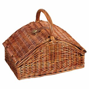 12-Piece Willow Picnic Basket Set