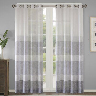 Cool Langley Street Augustus Striped Sheer Grommet Single Curtain Gmtry Best Dining Table And Chair Ideas Images Gmtryco