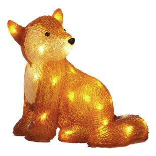 Fox Lighted Display By The Seasonal Aisle