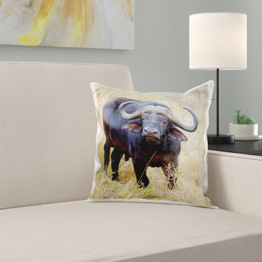 Groovy South Africa Zulu Nyala Gr Cape Buffalo Pillow Cover Onthecornerstone Fun Painted Chair Ideas Images Onthecornerstoneorg