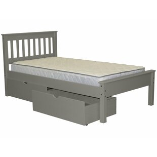 Treva Twin Slat Bed with Drawers by Harriet Bee