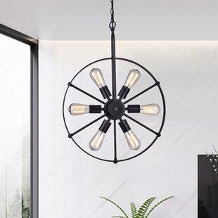 Gracie Oaks Ealing 6-Light Geometric Chandelier