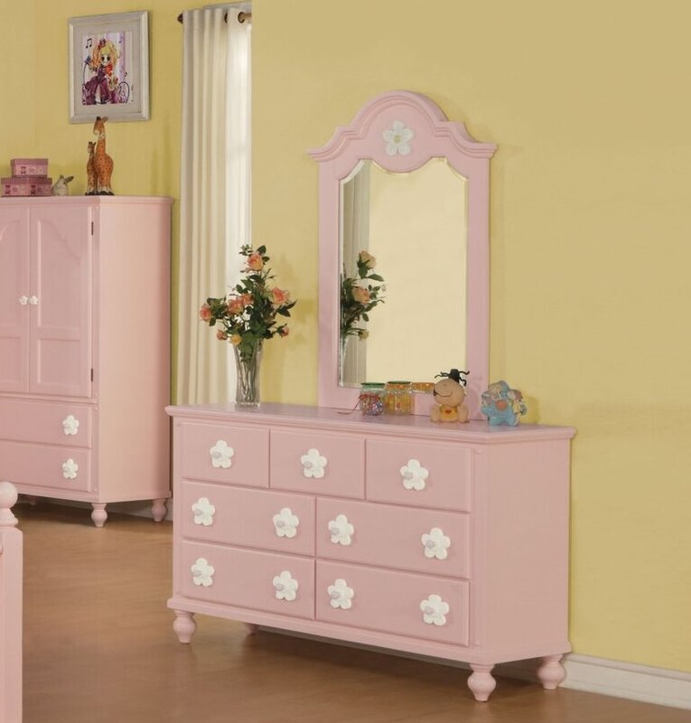 Harriet Bee Eslick 7 Drawer Dresser with Mirror & Reviews | Wayfair